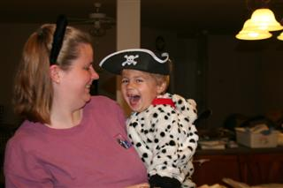 Marc (as Pirate Puppy) and Mommy